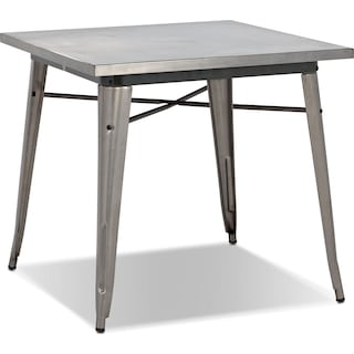 Squadron Dining Table - Polished Steel