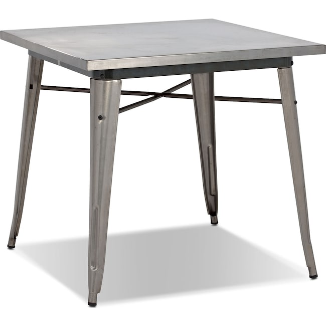 Dining Room Furniture - Squadron Dining Table - Polished Steel