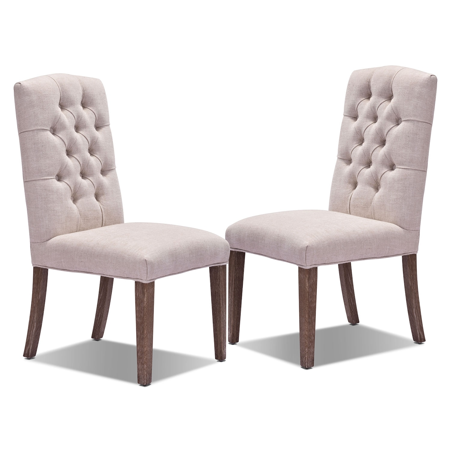 Dakota 2-Pack Chairs - Light Beige