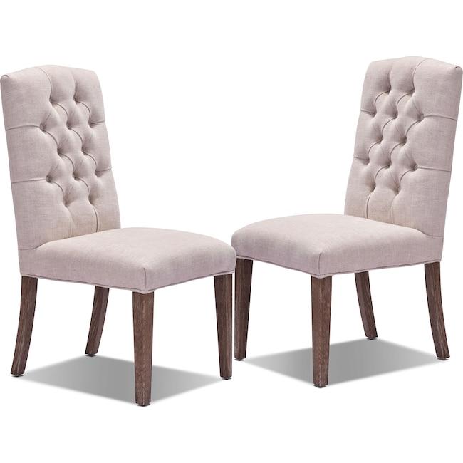 Dining Room Furniture - Dakota 2-Pack Chairs - Light Beige