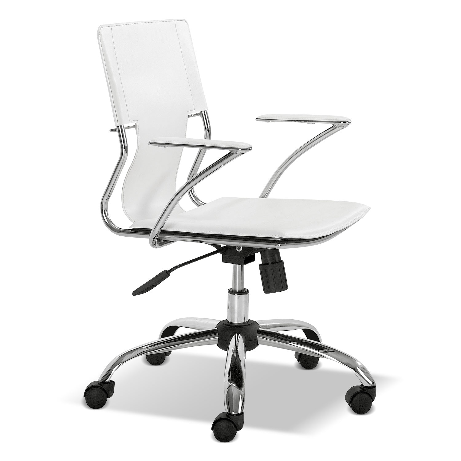 Home Office Furniture - Crowley Office Arm Chair - White