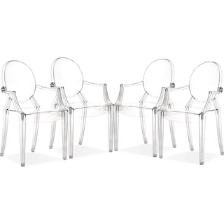Lucid 4 Pack Arm Chairs