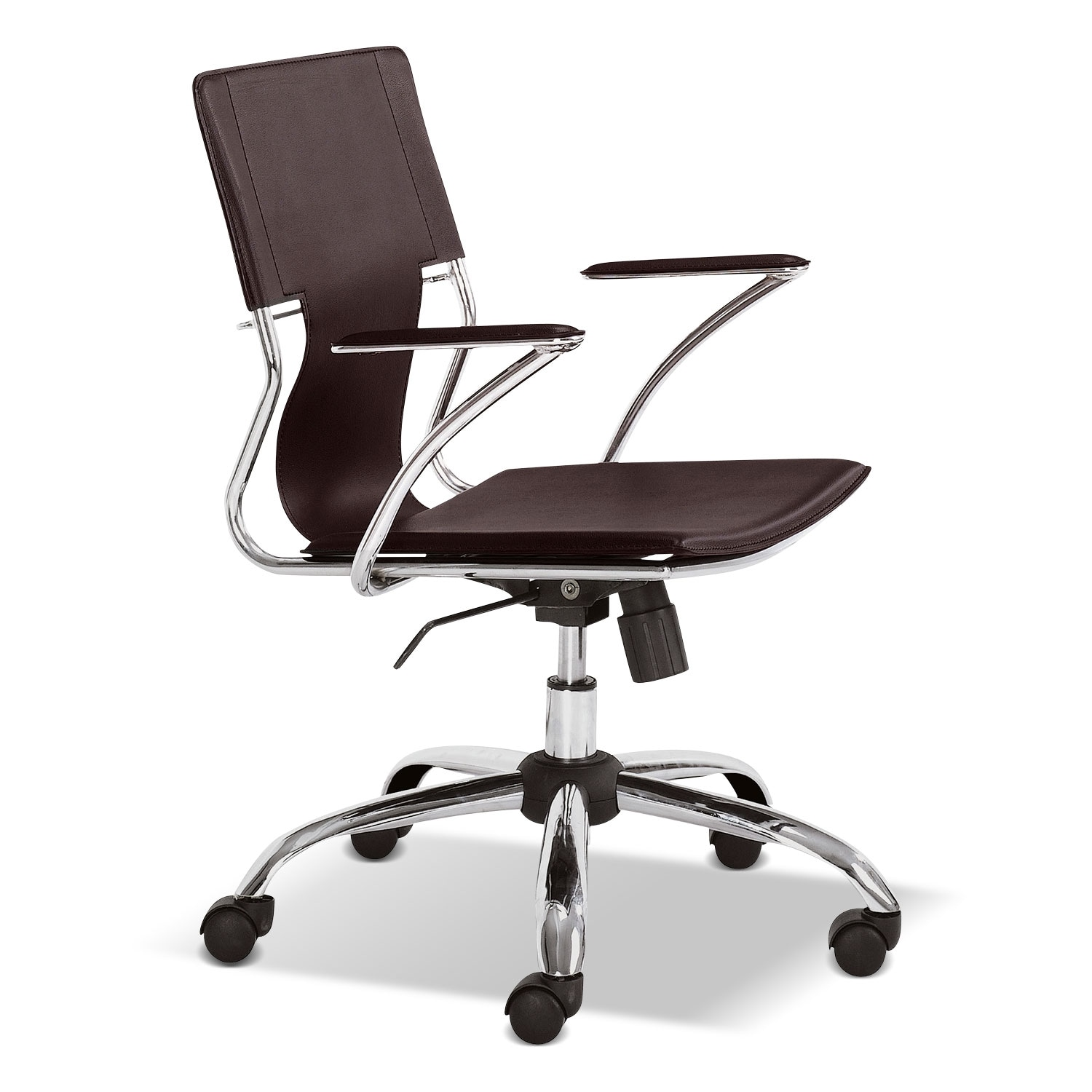 Home Office Furniture - Crowley Office Arm Chair - Brown