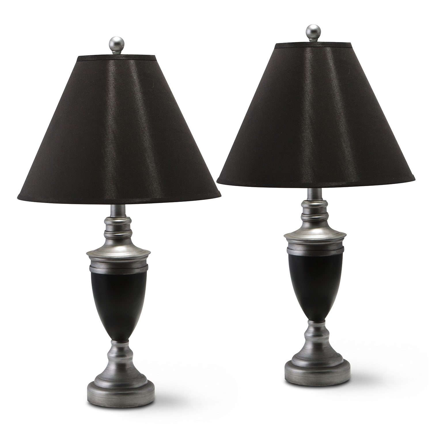 Home Accessories - Nickel 2-Pack Table Lamps