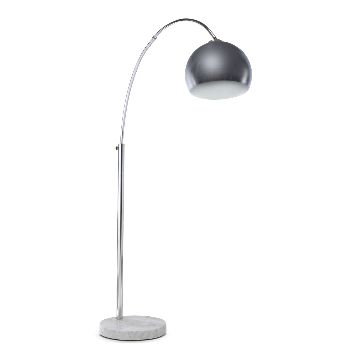 Home Accessories - Silver Bowl Arc Floor Lamp