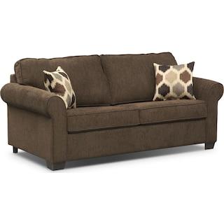 Fletcher Full Innerspring Sleeper Sofa - Chocolate