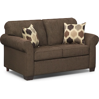 Fletcher Twin Memory Foam Sleeper Sofa - Chocolate