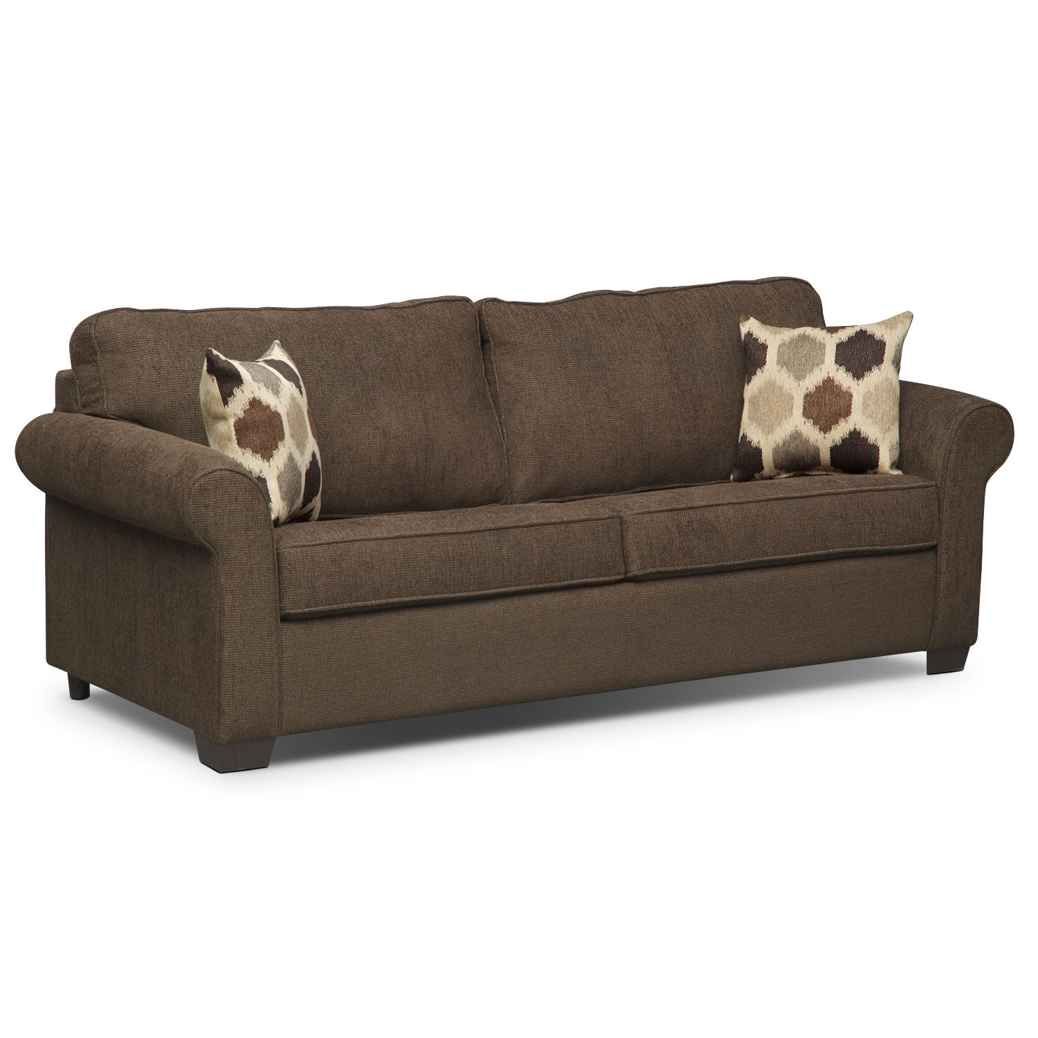 Fletcher Queen Memory Foam Sleeper Sofa - Chocolate