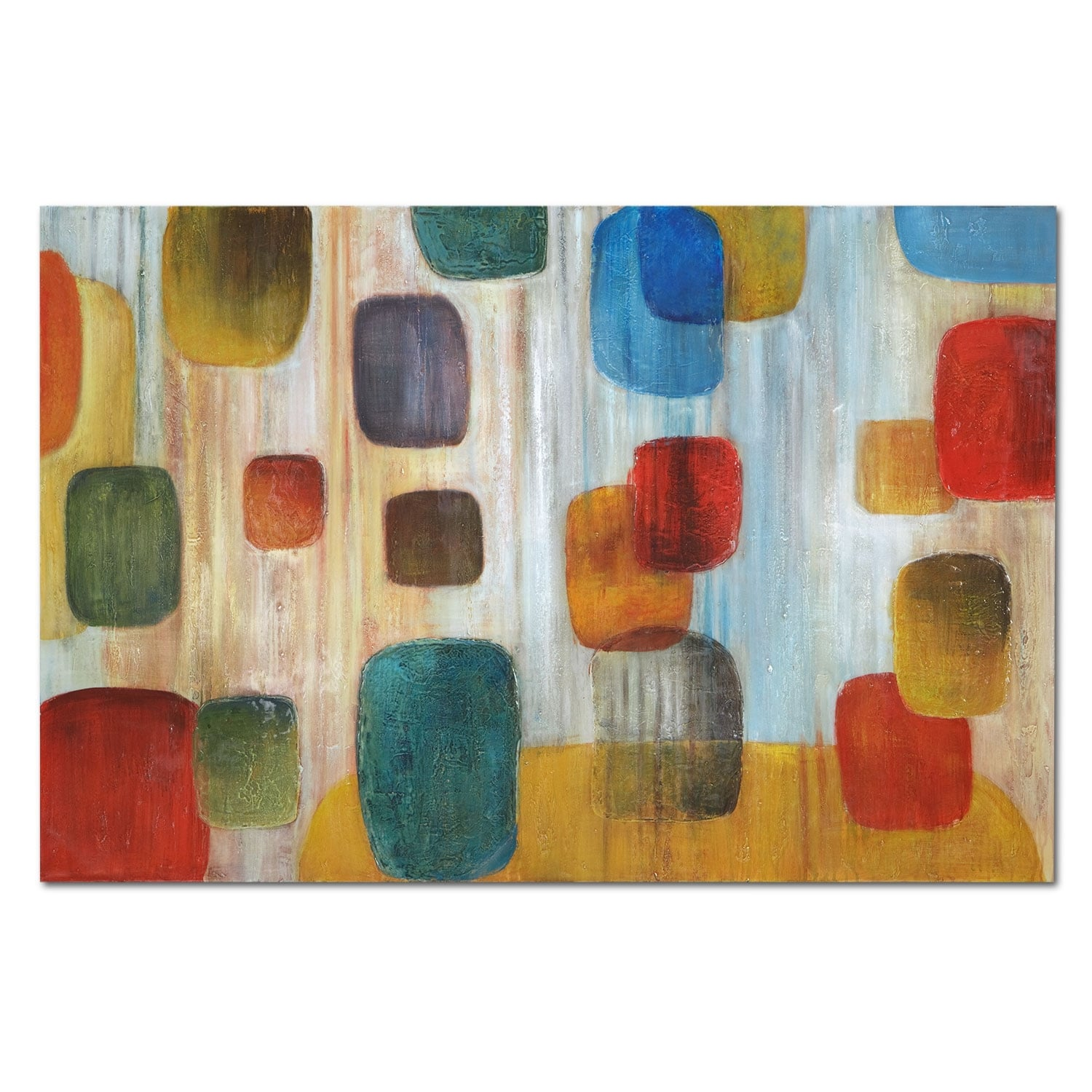 Square Rain Canvas Print