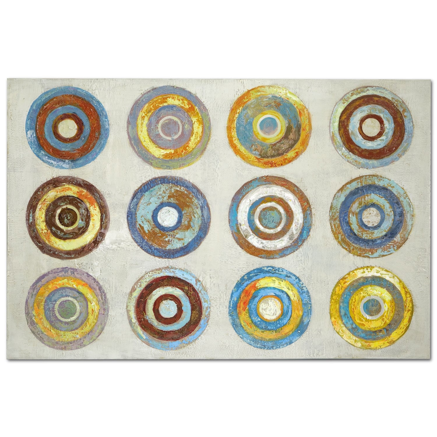 Color Wheels Canvas Print