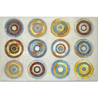 Color Wheels Canvas Print