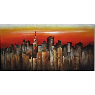 Orange City Canvas Print