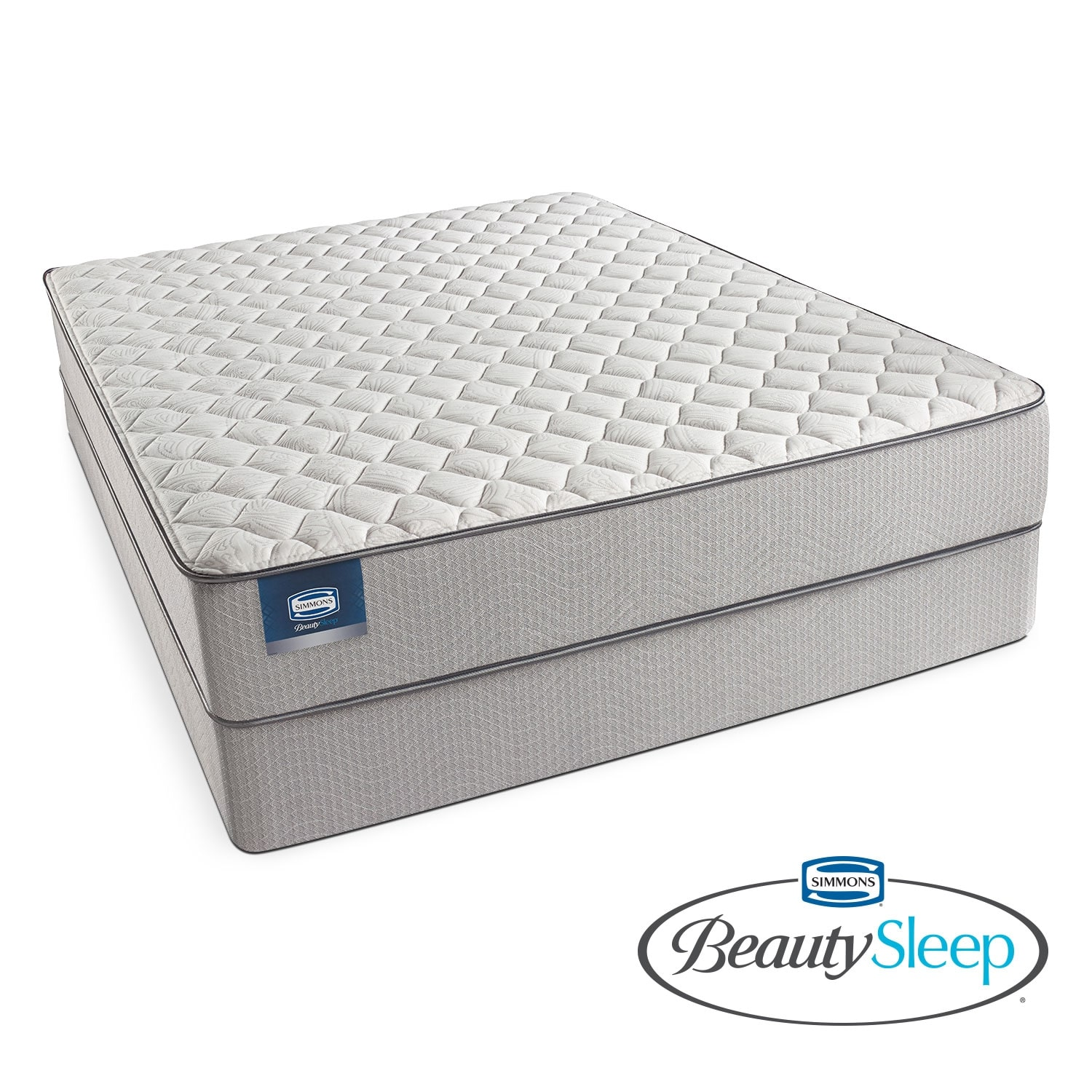 Mattresses and Bedding - Canal St. Firm King Mattress and Split Low-Profile Foundation Set
