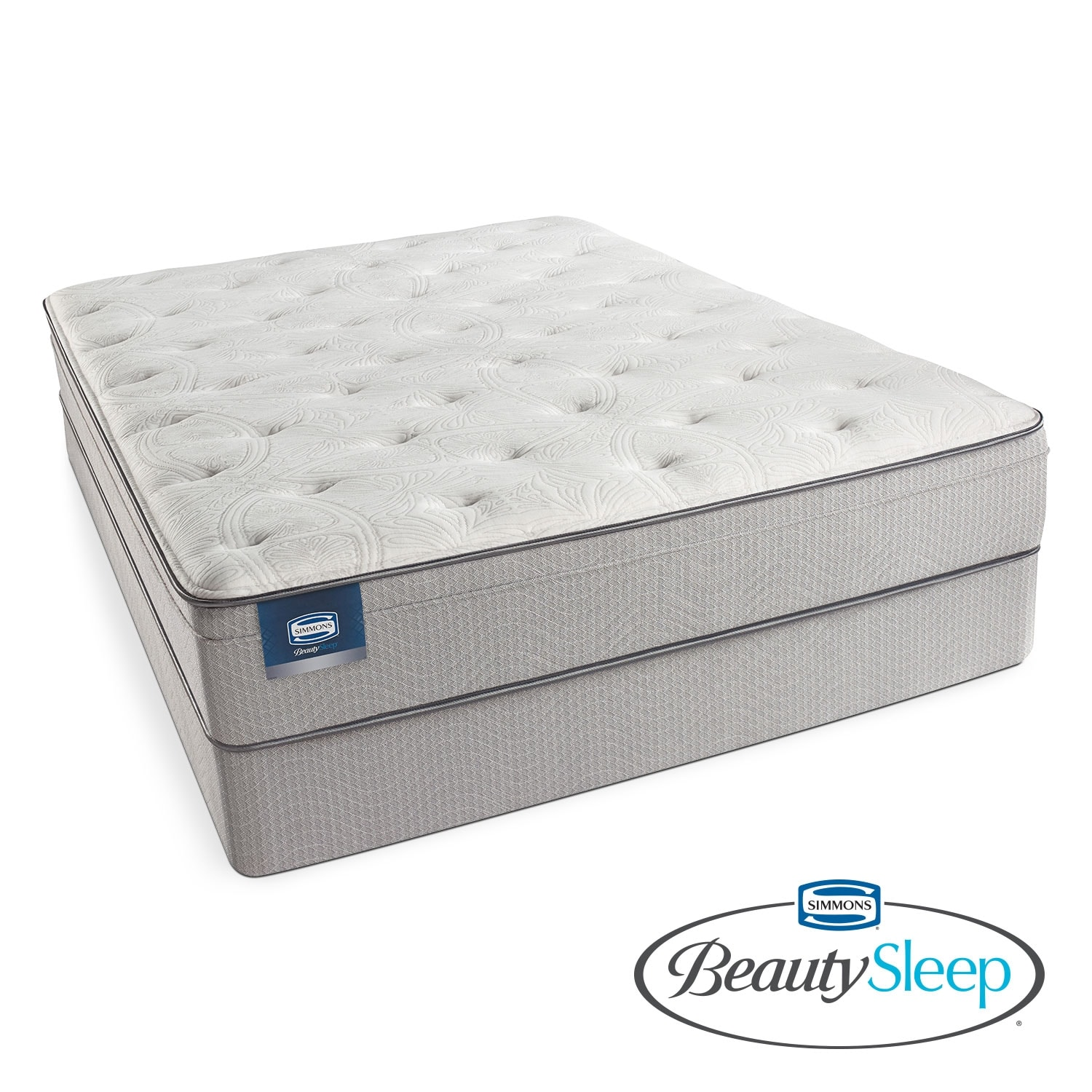 Mattresses and Bedding - Canal St. Plush California King Mattress and Split Foundation Set