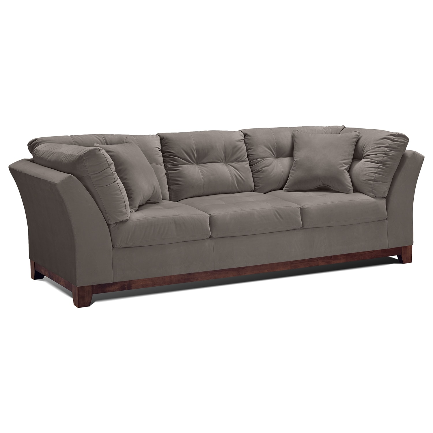 Living Room Furniture - Solace Gray Sofa