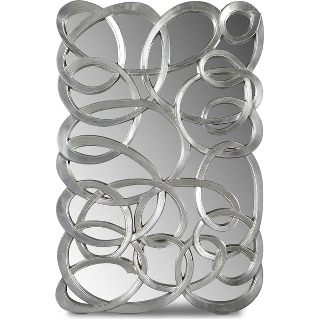 Home accessories swirl circles mirror silver