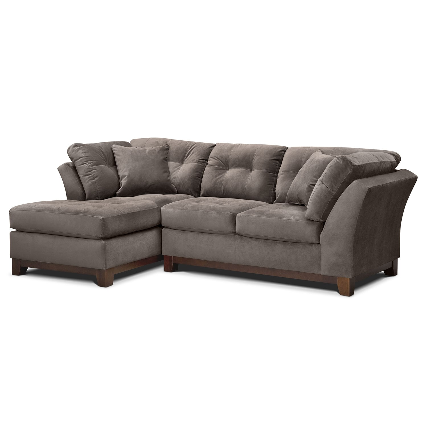 Solace 2-Piece Left-Facing Chaise Sectional - Gray