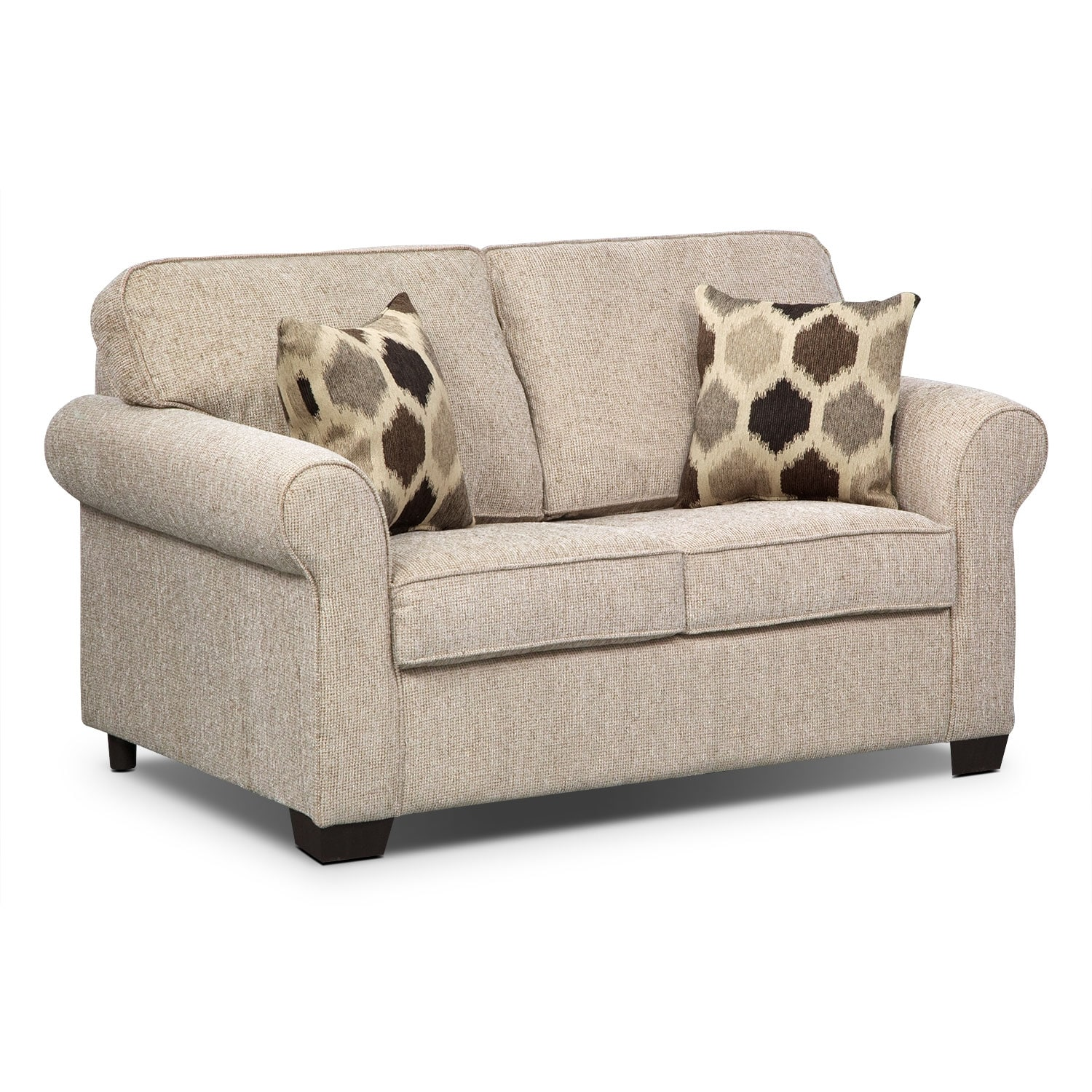 Living Room Furniture - Fletcher Twin Memory Foam Sleeper Sofa - Beige