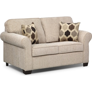 Fletcher Twin Memory Foam Sleeper Sofa - Beige
