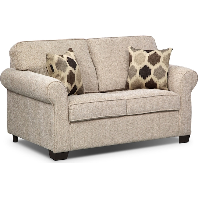 Living Room Furniture - Fletcher Twin Innerspring Sleeper Sofa - Beige