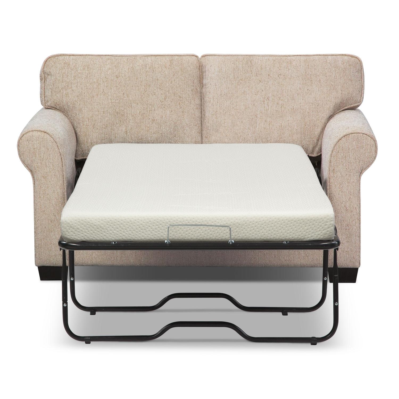 Fletcher Twin Memory Foam Sleeper Sofa Beige