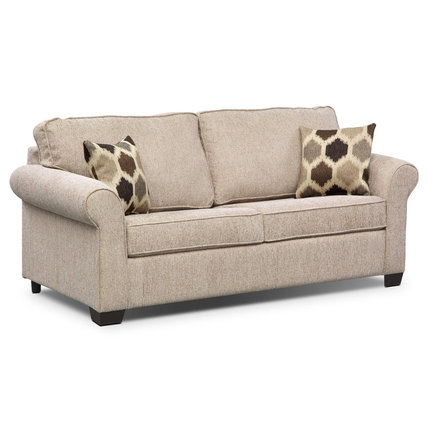 fletcher full innerspring sleeper sofa beige value city