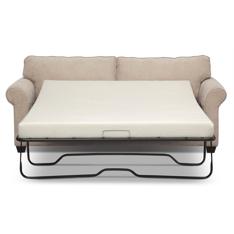 Fletcher Queen Memory Foam Sleeper Sofa Beige