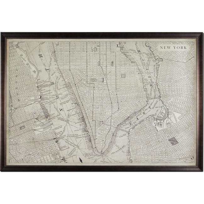 Home Accessories - Map of NYC Framed Print