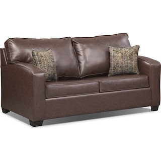 Brookline Full Innerspring Sleeper Sofa - Brown