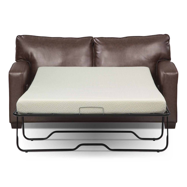 Brookline Full Memory Foam Sleeper Sofa Brown