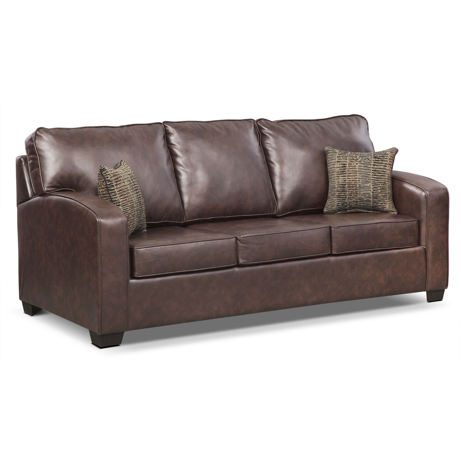 Brookline Queen Memory Foam Sleeper Sofa Brown Value