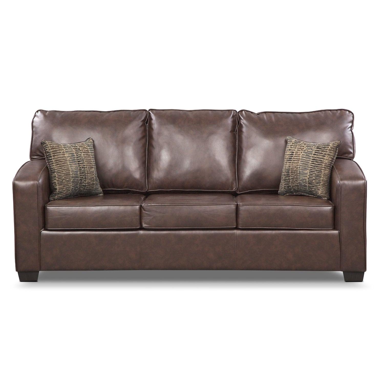 Brookline Queen Memory Foam Sleeper Sofa Brown Value