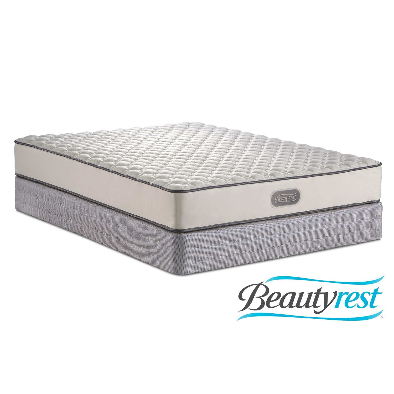 Mattresses and Bedding - Fox Hills Twin Mattress/Low-Profile Foundation Set