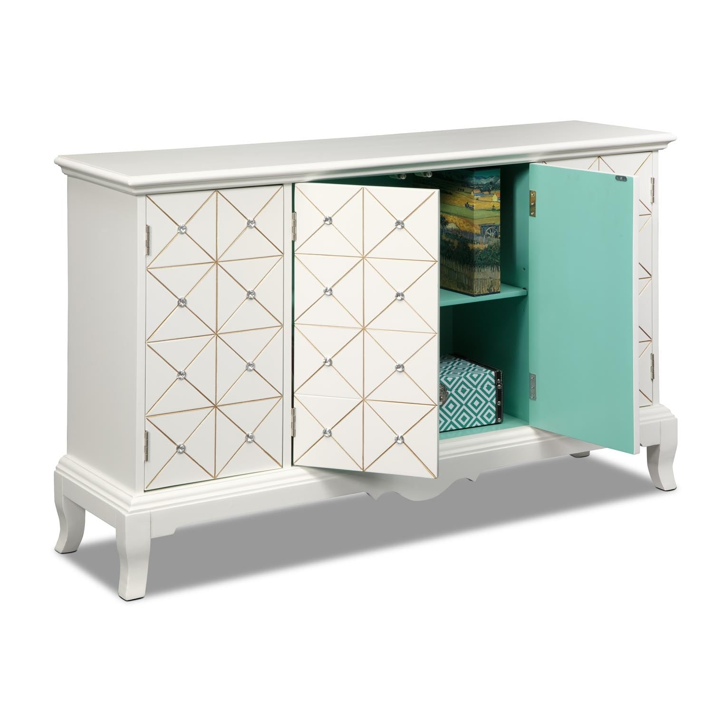 Accent and Occasional Furniture - Villa Capri Credenza - White