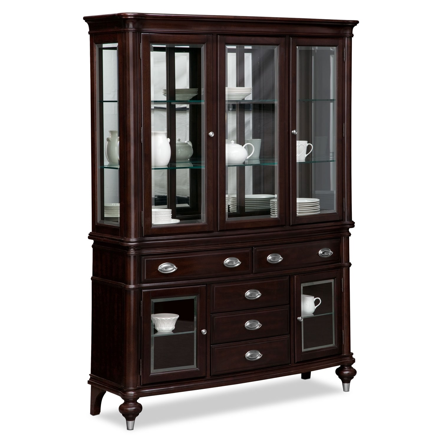 Dining Room Furniture - Esquire Buffet and Hutch - Cherry