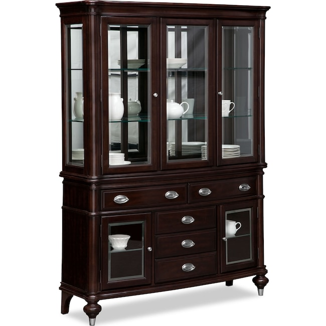 Accent and Occasional Furniture - Esquire Buffet and Hutch - Cherry