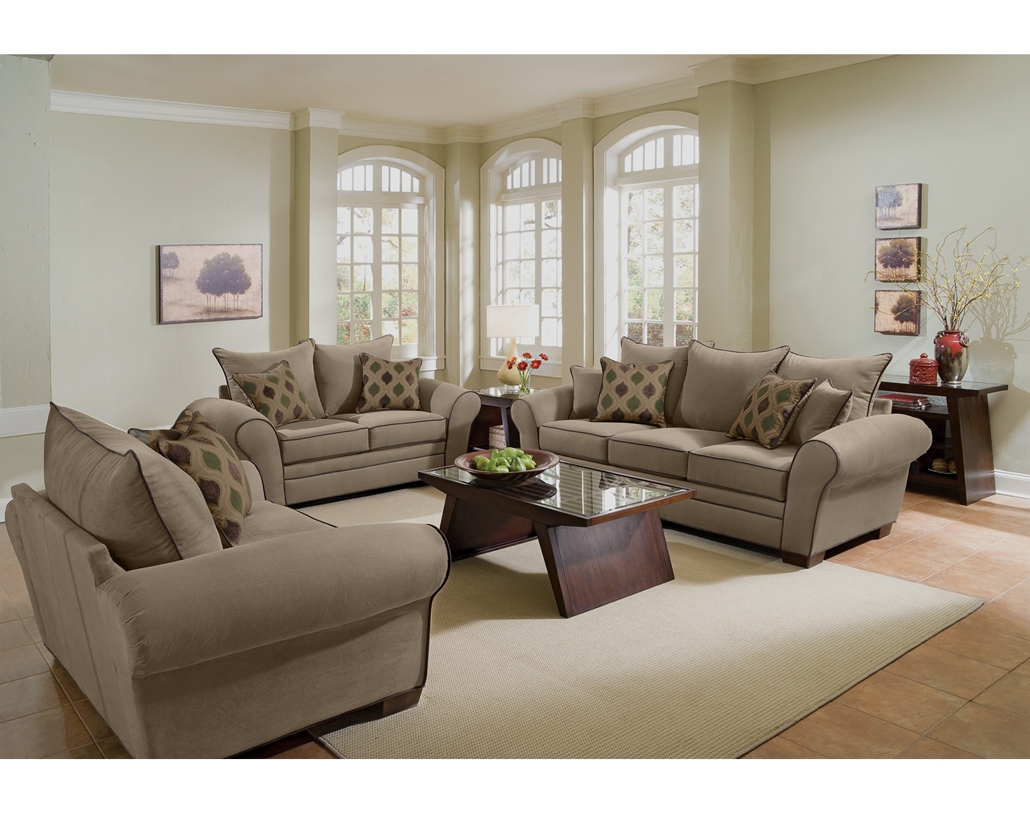 Value City Furniture Living Room The Rendezvous Collection Tan Value City Furniture
