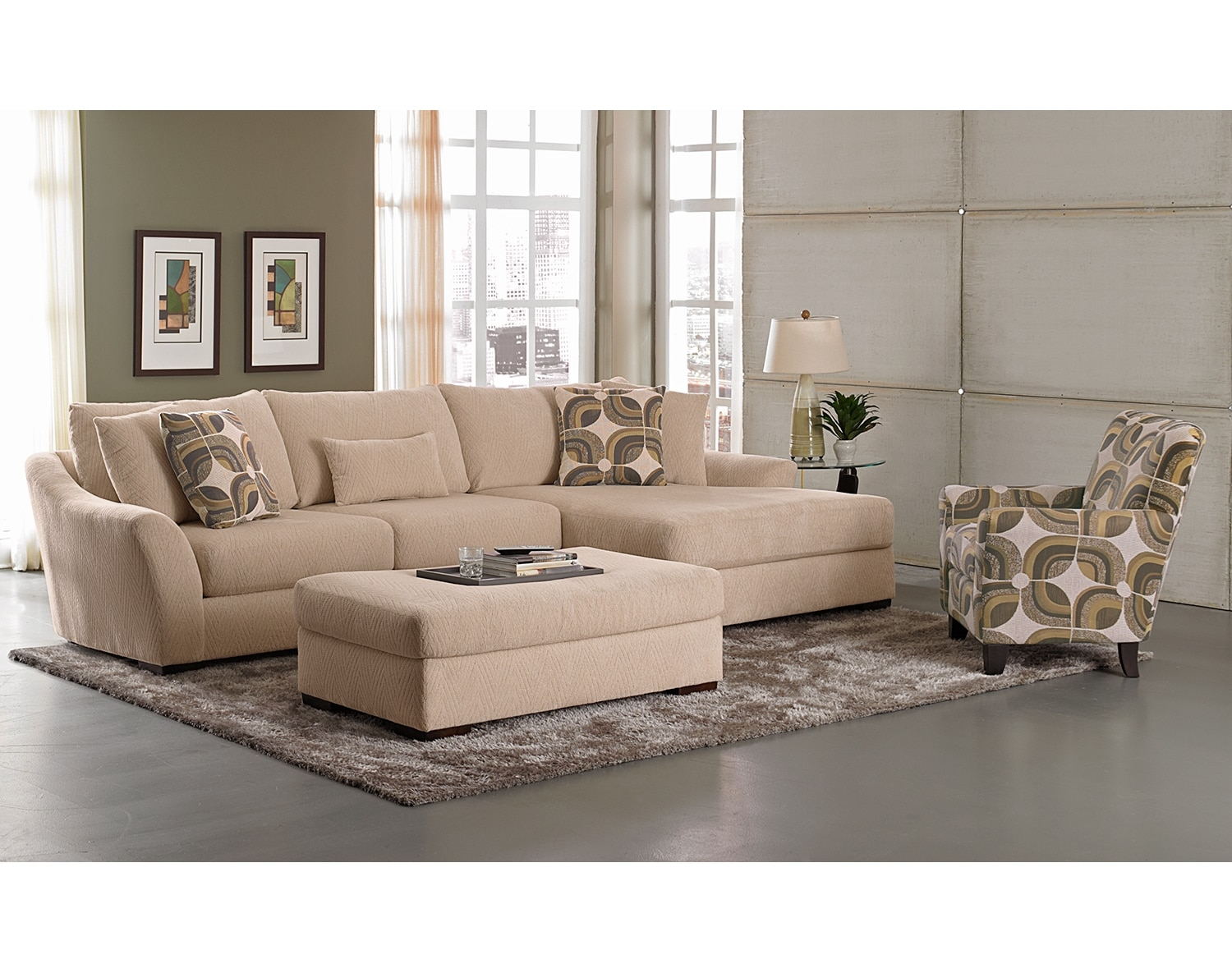 The Oasis Sectional Collection - Cream