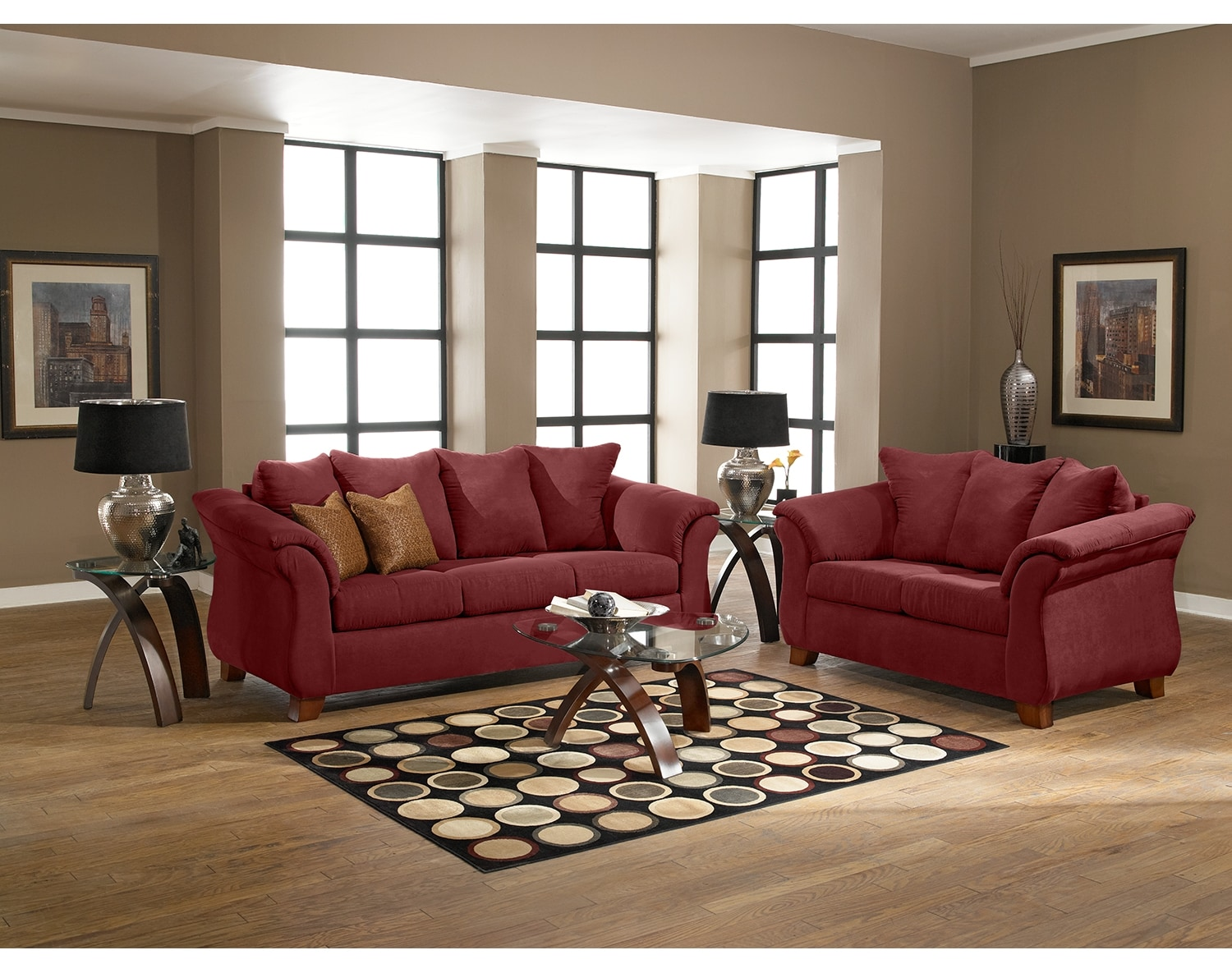 the adrian collection - red | value city furniture