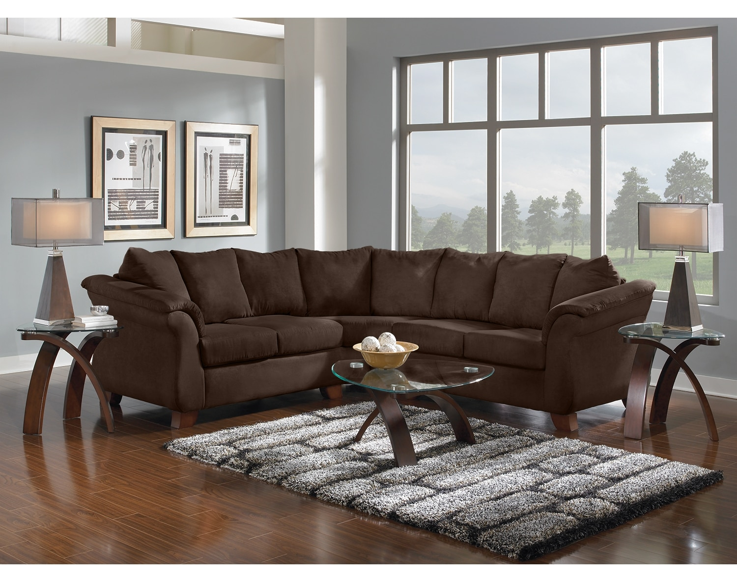 The Adrian Sectional Collection - Chocolate