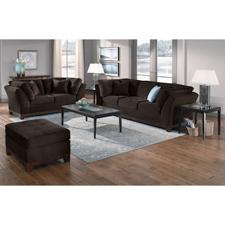 The Sebring Living Room Collection - Chocolate