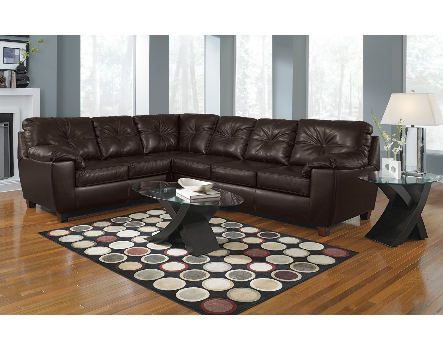 The Ricardo Sectional Collection   Brown Part 97