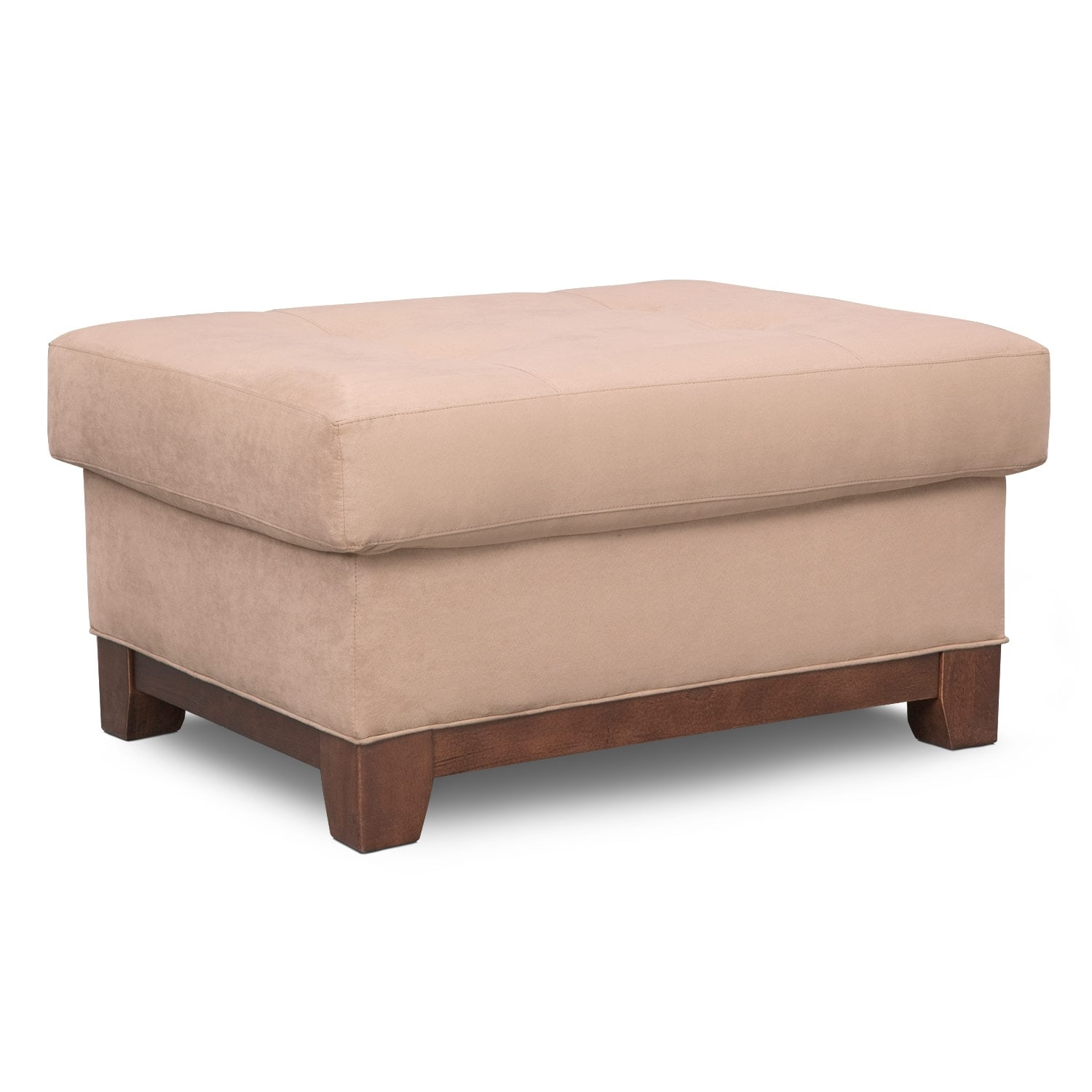 Living Room Furniture - Soho Ottoman - Cobblestone