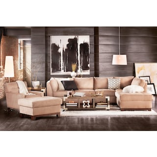 The Soho Sectional Collection - Cobblestone