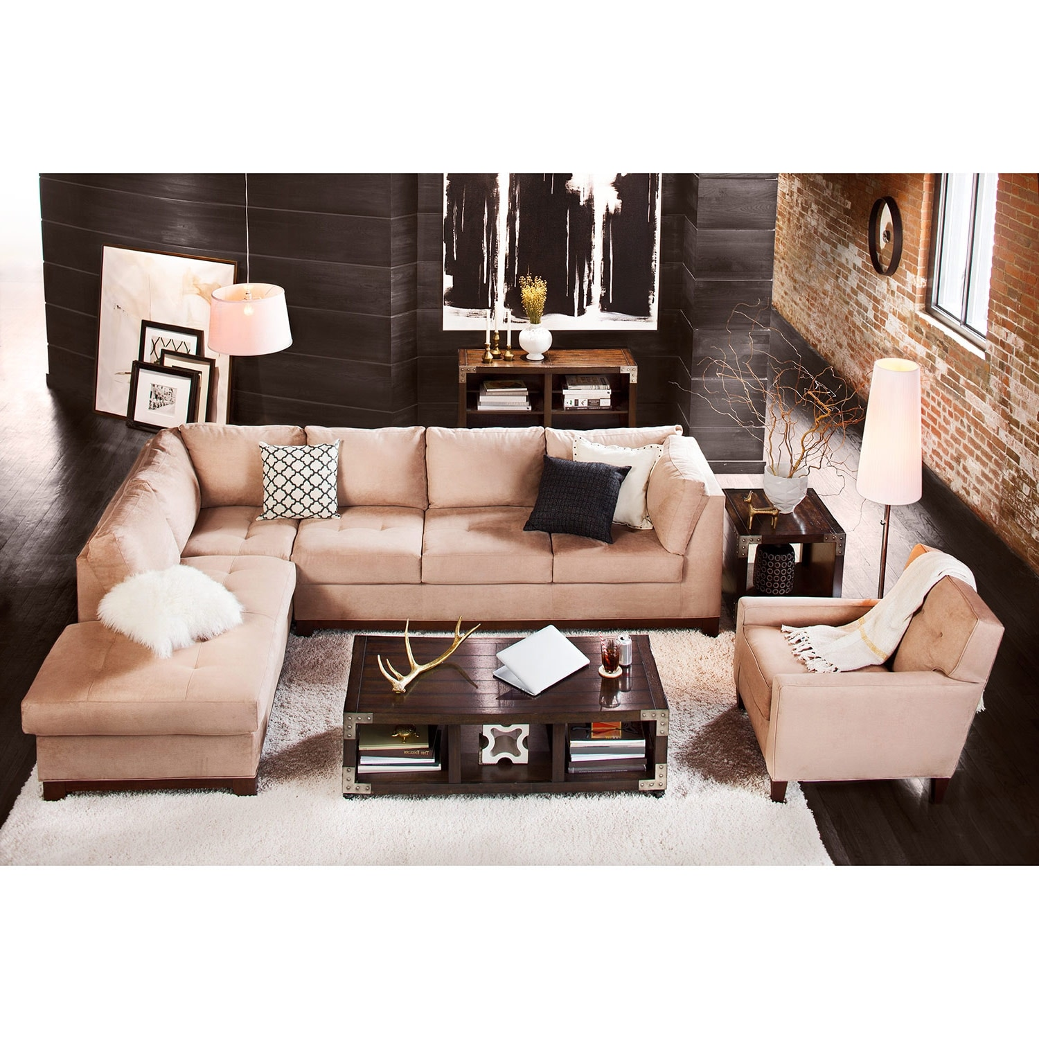 Click to change image.  sc 1 st  Value City Furniture : left chaise sectional - Sectionals, Sofas & Couches