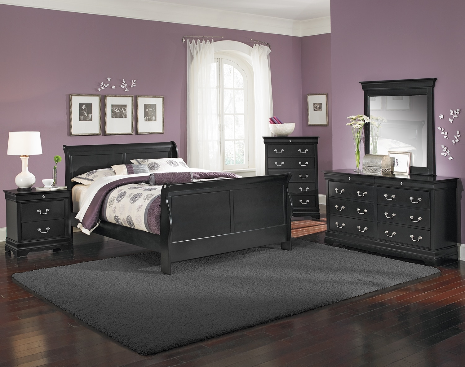 The Neo Classic Youth Bedroom Collection - Black