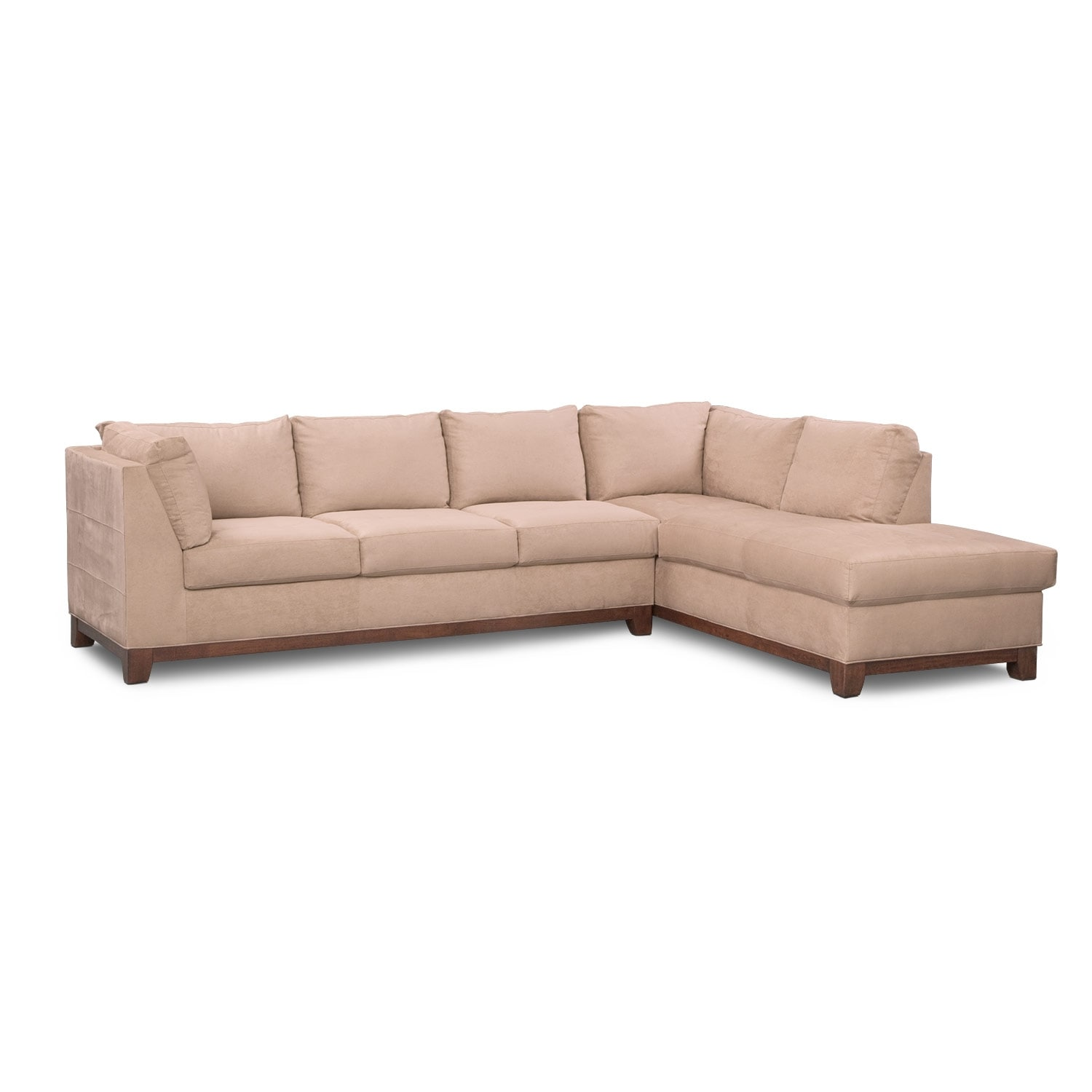 Soho 2-Piece Sectional with Right-Facing Chaise - Cobblestone ...