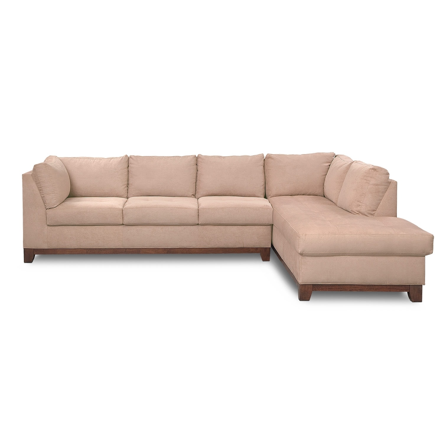Soho 2 Piece Sectional with Right Facing Chaise Cobblestone