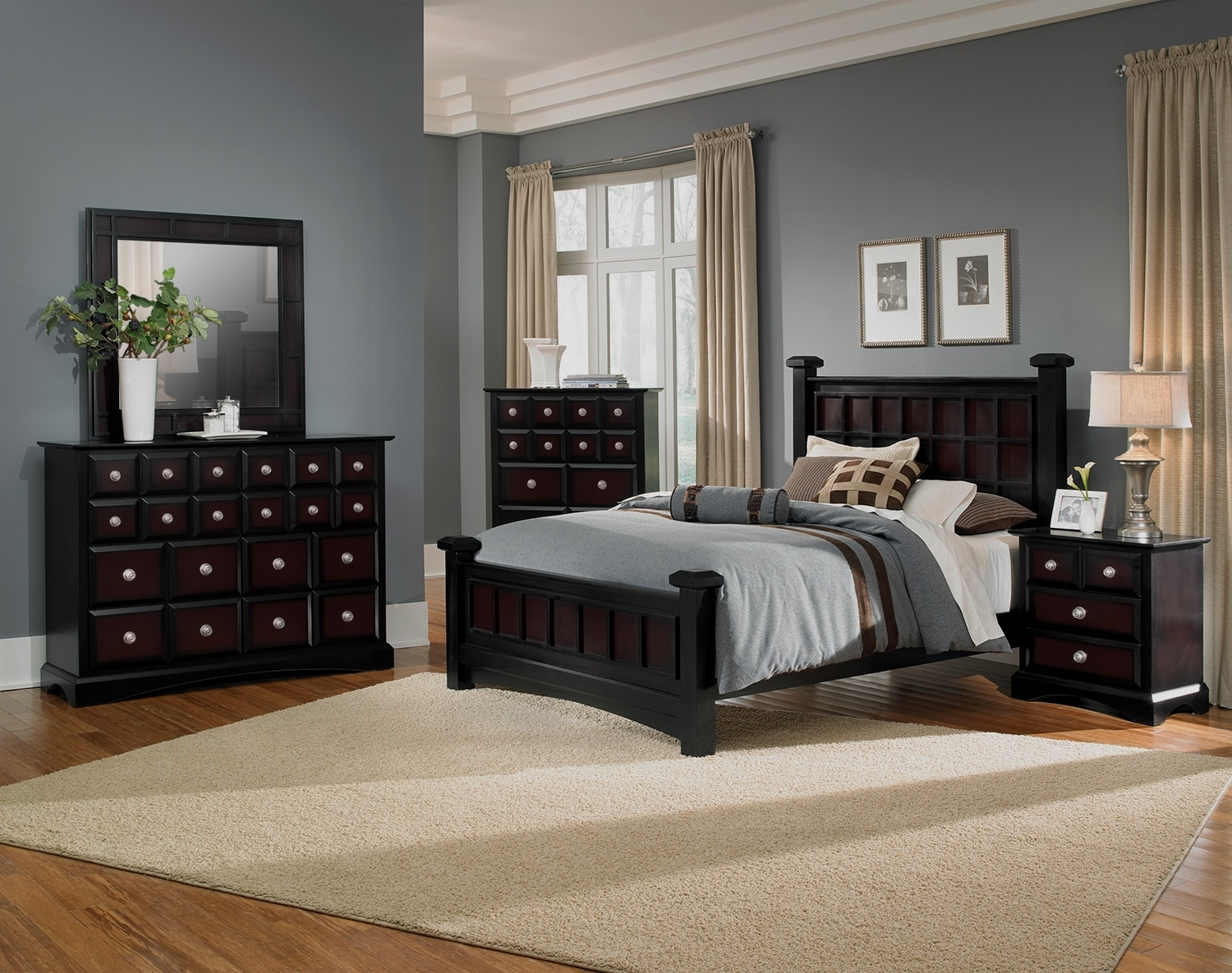 The winchester collection black and burnished merlot