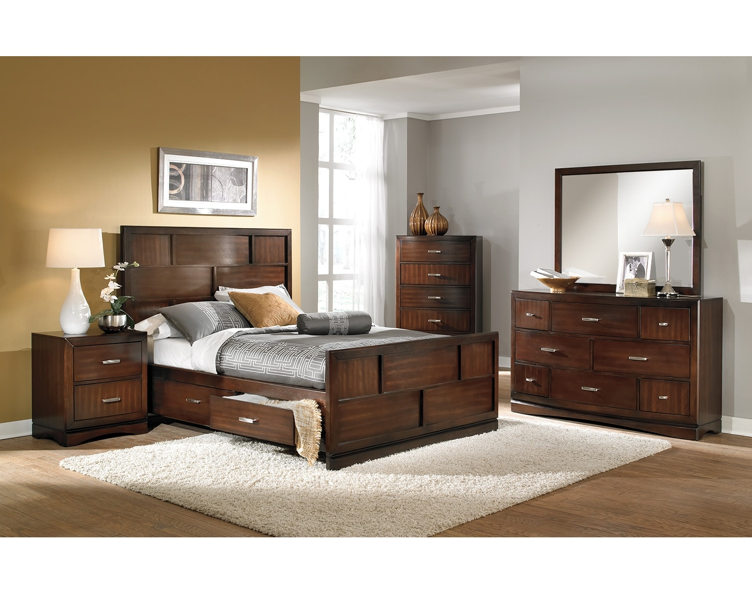 The Toronto Collection Pecan Value City Furniture and Mattresses